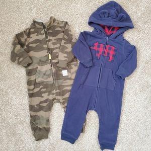 Carter's *LOT OF 2* Baby Boys Fleece Jumpsuits